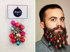 Get into the holiday spirit with beard baubles.