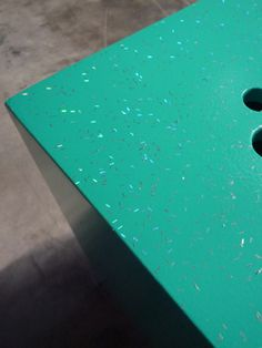 Take me easy - Small stool, green glitter.