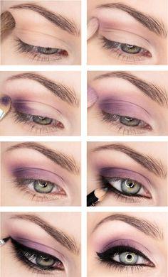 purple makeup tutorial