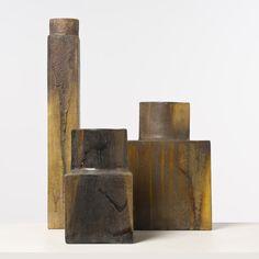 Marcello Fantoni; Glazed Ceramic Vases, c1955.