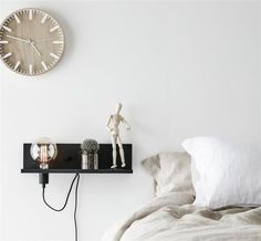 Multi Shelf and Wall Light with USB Charging Port - Black - Bedroom Lighting - Shop by Room - Lighting Direct Usb, Bedside Shelf, Direct Lighting, Structure Metal, Roof Light, Diy Bed, Bedroom Lighting, Home Decor Kitchen, Bauhaus
