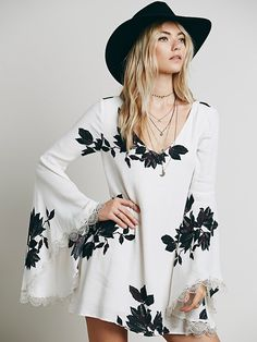 Free People Wanderer Mini Dress at Free People Clothing Boutique