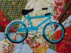 Fabric Art Wall Quilts with Linda Varekamp! Bike Craft, Quilting Room, Quilting Ideas, Baby Bike, Bicycle Art, Boy Quilts, Applique Quilts, Fabric Art, Quilt Patterns