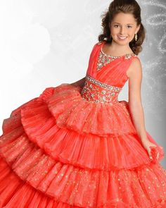 Exquisite Hot Style Girls Pageant Dresses Crystal Tiers