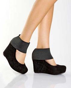 Bilek detaylı dolgu topuk ayakkabı modelleri