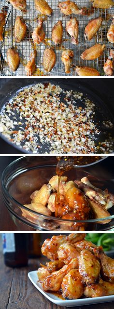 Crispy Baked Orange Chicken Wings from justataste.com #recipe #chicken