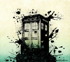 Ink Splotch TARDIS -Phone lock screen