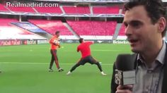 Youtube BEHIND THE SCENES: Real Madrid train at the Estádio do Sport Lisboa e Benfica