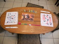 Kung Fu Panda- placemats: I spy, Count the Pos, Sparklers (for after dark), Party Poppers (for when the fireworks go off in the movie), print out puzzle, picked up some chopsticks from the Chinese restaurant. Printables found on my Family Movie Night board. I swapped out our kitchen table for the coffee table and we ate sitting on pillows =)