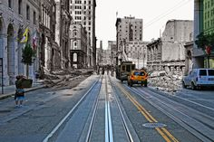"""1906 + 2010: The Earthquake Blend, """"After reading San Francisco is Burning, Dennis Smith's superb book of San Francisco's reaction to the 1906 earthquake, I got to thinking. What if I could precisely line up photos taken in 1906 with my own and combine the two together?"""" by Shawn Clover, via Robin Sloan"""