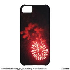 Fireworks iPhone 5/5S/5C Case #Red #iPhone #Case #Red #Fireworks #Explosion