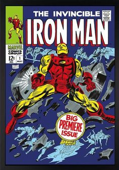 www.canvasgallery.com Stan  Lee The Invincible Iron Man #1 - Big Premiere Issue…