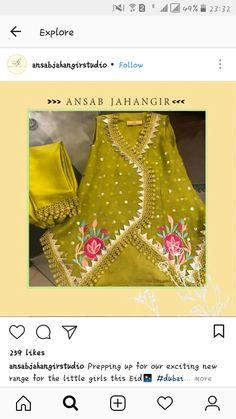 Baby Girl Dress Design, Fancy Dress Design, Frock Design, Baby Girl Dresses, Pakistani Dresses Casual, Pakistani Dress Design, Punjab Culture, Kids Kurta, Mehndi Dress