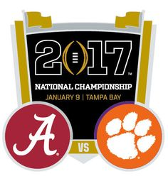 The classic Football game of college football playoff national championship 2017 is knocking at the door. Clemson Football, College Football Playoff, Clemson Tigers, Alabama Vs, University Of Alabama, Championship Game, National Championship, Roll Tide, Crimson Tide