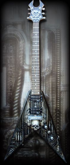 H.R. Giger Flying V by ktalbot