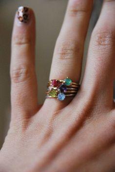 unique birthstone rings