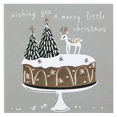 Buy Belly Button Designs Merry Little Christmas Card Online at johnlewis.com