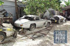 Mercedes 300SL Roadster abandoned in Cuba
