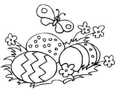 easter coloring pages   Free Coloring Pages: Easter Eggs Coloring Page