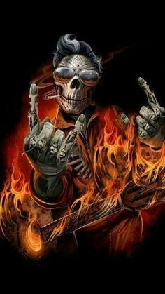 This is how I feel Dark Fantasy Art, Dark Art, Ghost Rider Wallpaper, Skull Wallpaper, Skull Artwork, Cool Artwork, Rabe Tattoo, Grim Reaper Art, Badass Skulls