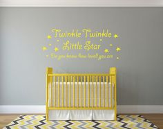 Items similar to Twinkle Twinkle Little Star - Vinyl Wall Sticker / Wall Art / Wall Decal - Available in 12 Colours on Etsy Vinyl Wall Stickers, Wall Decals, Wall Art, Twinkle Twinkle Little Star, Interior And Exterior, Custom Design, How Are You Feeling, Hand Painted, Colours