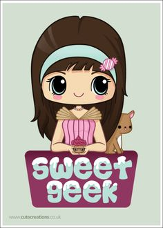 COMMISSION: Sweet Geek Logo by Cute-Creations.deviantart.com on @deviantART