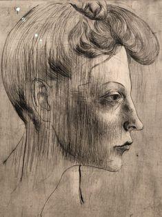 Female Profile, Art Database, Pablo Picasso, Portrait, Women, Headshot Photography, Portrait Paintings, Drawings, Portraits