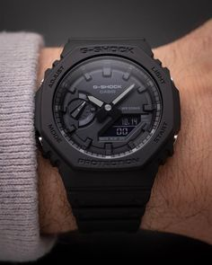 Casio G-Shock Rare Fully Blacked Out Model - Brand New, Authentic G Shock Watches Mens, Best Watches For Men, Luxury Watches For Men, Sport Watches, Stylish Watches, Cool Watches, Wrist Watches, Men's Watches, Pocket Watches