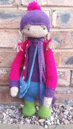 doll mod made by Alex K. / based on a lalylala crochet pattern