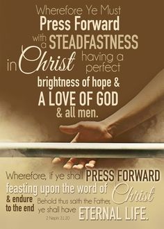 FREE Printables. Press Forward With a Steadfastness in Christ