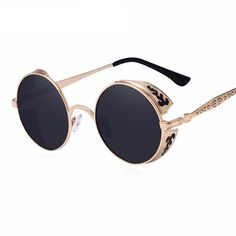 72a08b4b59c0 Steampunk Vintage Round Sunglasses Limited Edition
