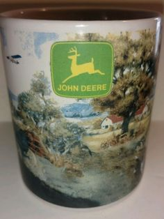 Collectible John Deere Coffee Mug Boy Tractor Dog Bi Plane