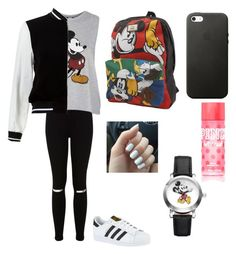 """Mickey"" by denisseisa on Polyvore featuring Miss Selfridge, Topshop, New Look, adidas, Vans and Disney"