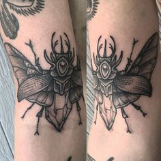 beetle tattoo by Baylen Levore