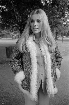 """Terry O'Neill   Sharon Tate Fur Trimmed Coat Pregnant film star Sharon Tate, wife of film director Roman Polanski, 6th August 1969. This picture was taken three days before she was murdered.  Limited Edition Silver Gelatin Signed and Numbered  12"""" x 16"""" / 16"""" x 20""""  20"""" x 24"""" / 20"""" x 30""""  24"""" x 34"""" / 30"""" x 40""""  60"""" x 60"""" / 72"""" x 72""""  For questions or prices please contact us at info@igifa.com"""