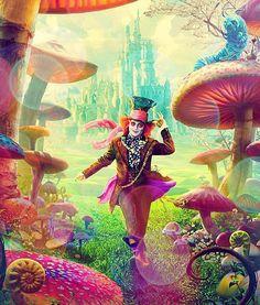 Tim Burtons Alice in wonderland <3