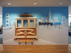 A 3D  identity for Booking.com. Acrylic and wood with a lot of love and paint.
