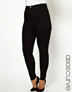 ASOS CURVE Skinny Jean With Ultra High Waist....Now THAT'S what I'm talking about!