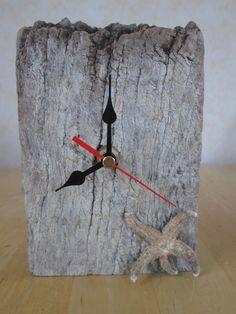 Freestanding Oak Driftwood Clock £20.00