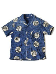 Kapital Blue Hands Indigo Aloha Shirt