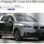 Suzuki S-Cross facelift spied testing in Europe for the first time