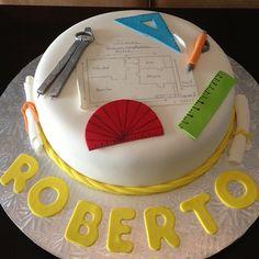 Architect theme custom cake by Cake Bash Studio & Bakery Sherman Oaks,CA