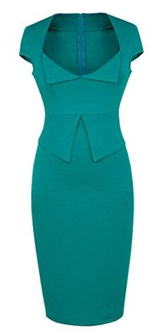 Homeyee Women's Shift Pencil Wiggle Bodycon Dress U433 (4, Green) HOMEYEE http://www.amazon.com/dp/B00SKO378A/ref=cm_sw_r_pi_dp_0O9Xwb16BZTVE