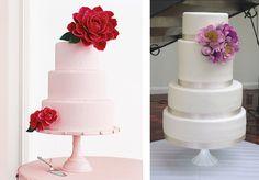 4 April Reed Cake Design, Martha Stewart Weddings cluster of flowers cake inspiration Weddingish