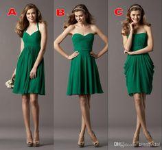Cheap Cheap Bridesmaid Dresses - Discount 2014 Cheap Three Styles Short Chiffon Sexy Bridesmaid Online with $69.0/Piece | DHgate