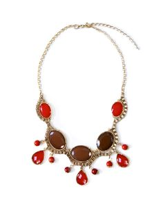 Scarlet Stone Necklace from JewelMint.  October 2012 collection.  $29.99.