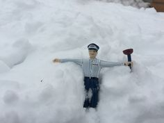 ...and Mr. Rooter decided to take a little break in the snow.
