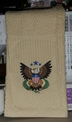 Em roidered Eagle towel ♡♡♡