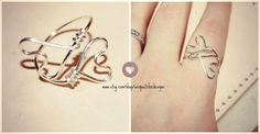 Hey, I found this really awesome Etsy listing at https://www.etsy.com/listing/172148268/hand-formed-double-heart-ring-non