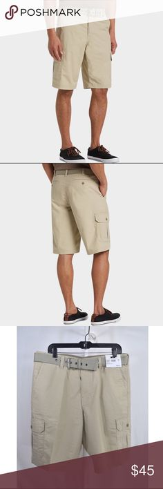 "NWT Men's Joseph Abboud Tan Cargo Shorts Joseph Abboud Men's Shorts🔸Tan🔸Size 36🔸Cargo pockets🔸Matching belt🔸98% cotton 2% lycra🔸Front and back pockets🔸Modern Fit🔸Machine washable🔸Brand new with tags🔸Inseam is 11""🔸MSRP $69.99🔸Smoke and pet free home Joseph Abboud Shorts Cargo"